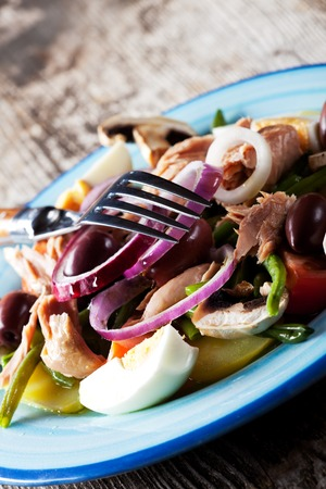 french salad nicoise on a plate Stock Photo