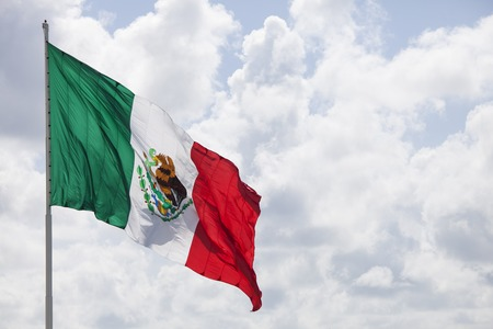 mexican flag in the sunlight