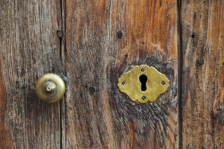 old keyhole on a door Stock Photo