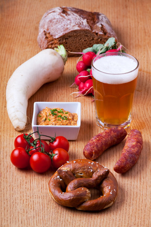 typical: typical bavarian snacks