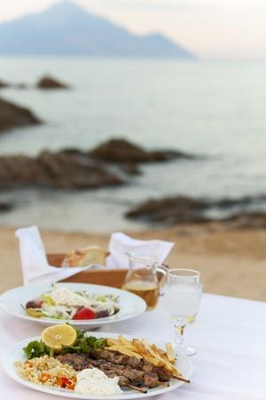 greek food outdoor in summer
