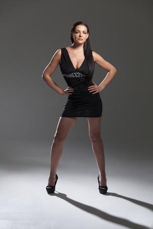 woman in a mini dress Banque d'images