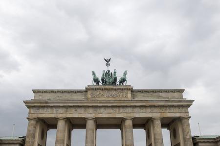 brandenburg gate in berlin in summer
