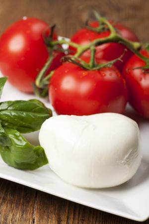 Mozarella, basil and tomatoes