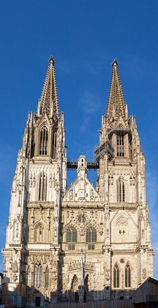 front of the dom in Regensburg