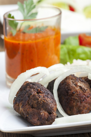 grilled cevapcici with ajvar