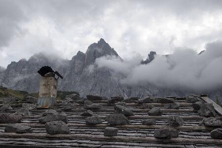 Roof of an alpine hut