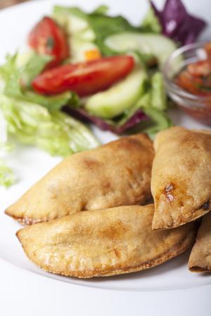 home made empanadas with salsa