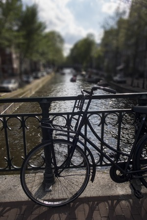 bike in amsterdam netherlands in summer