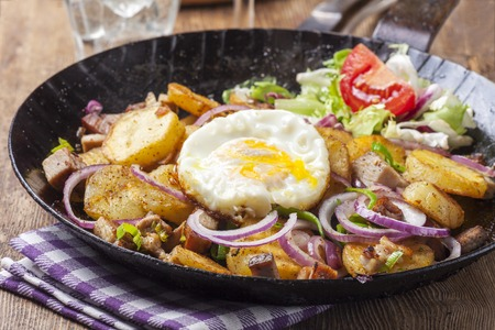 tyrolean groestl with an egg Stock Photo