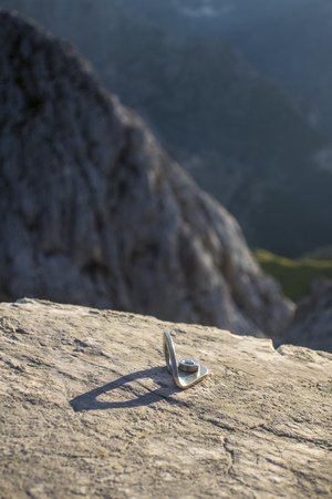 climbing bolt in the german alps
