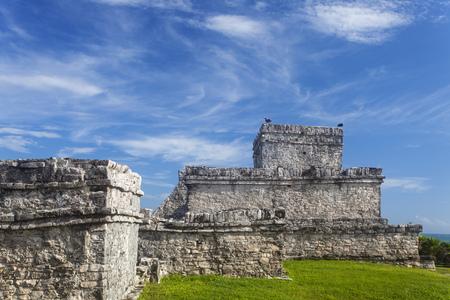 maya ruin in tulum mexico