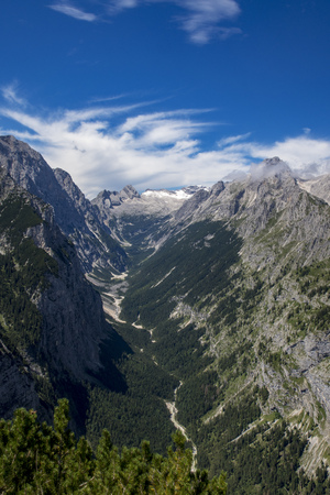 zugspitze mountain in the bavarian alps