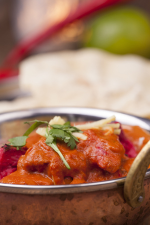 indian chicken tikka dish with rice