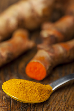 ground tumeric on a plate