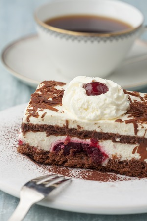 black forrest cake on a plate