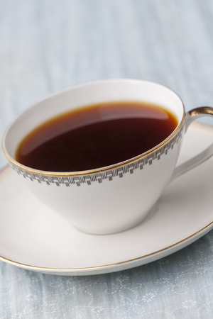 nice cup of coffee in an antique cup  Stock Photo