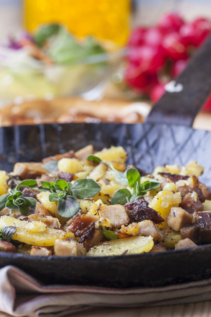 tyrolean groestl in an iron pan