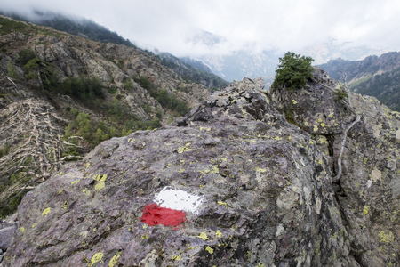 marking on a rock Stock Photo