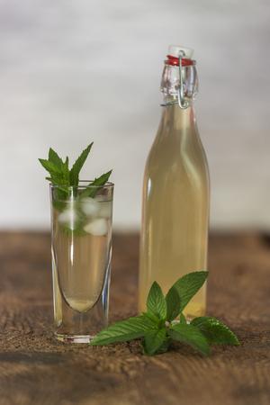 homemade ginger lemonade with mint leaves Stock Photo