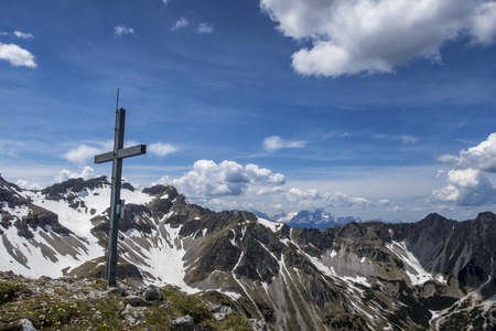 peaks of the Soierngruppe in Bavaria