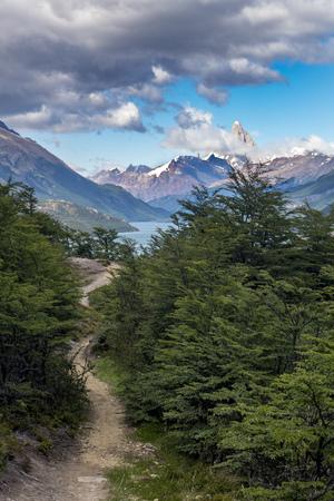 trail to fitz roy mountain in patagonia Stock Photo