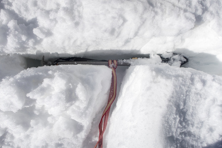 t stop in the glacier with an ice ax