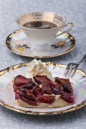 bavarian zwetschgendatschi, a local plum cake Stock Photo