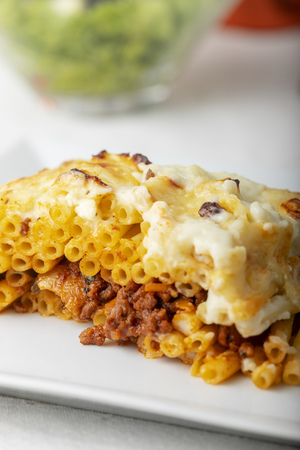 pastitsio, a greek noodle dish