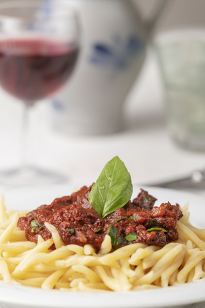 trofie pasta from liguria italy