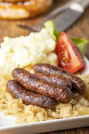 sausages with sauerkraut 写真素材