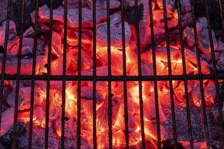 glowin charcoal ready for a bbq Фото со стока