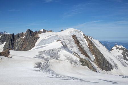glacier at sustenhorn in switzerland Stock Photo