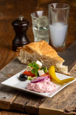 Greek taramas spread with bread
