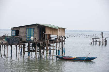 nang: Typical House on the sea Lang Co, Hue, Vietnam