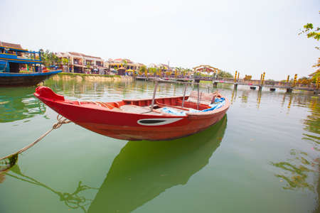 Boat in Hoi An, Vietnam  photo