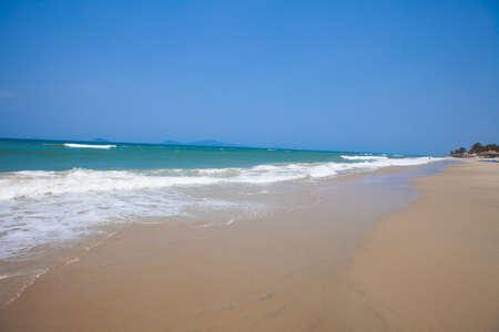water s edge: Cua Dai Beach In Hoi An, Vietnam