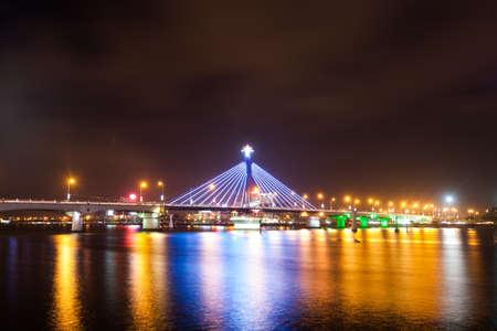nang: The Han River Bridge in Danang, Vietnam Stock Photo