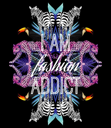 I am fashion addict slogan
