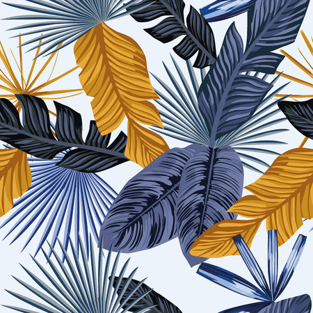 Seamless vector beach wallpaper pattern 일러스트
