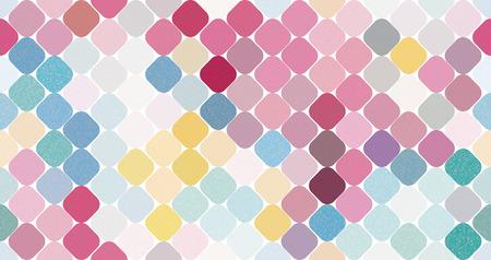 Multi-color geometric vector seamless pattern background illustration Illustration