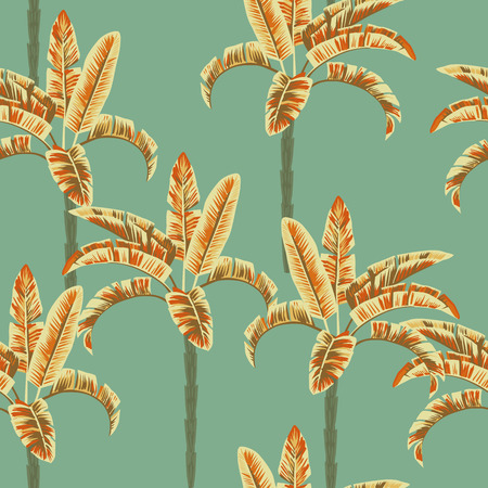Palm trees seamless pattern abstract color. Tropical wallpaper