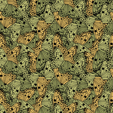 Butterflies wings seamless vector pattern background beautiful wallpaper