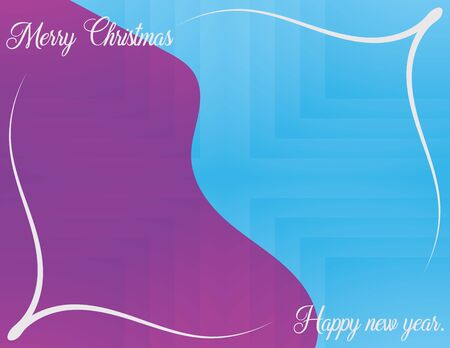 Vector Christmas Greeting Card Design. Happy New Year Wallpaper. Creative Color Christmas Invitation. Holiday Xmas Illustration Template Abstract Geometric Background Flyer Brochure Decoration Ilustracja