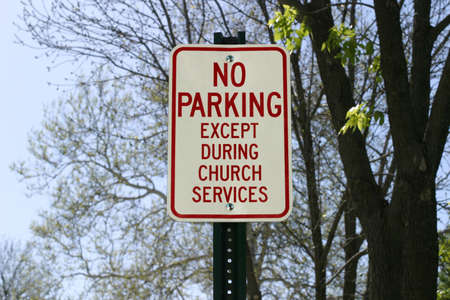 Church Parking Sign - Rural Iowa lifestyle