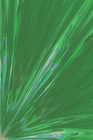 Green Rays - Abstract Background