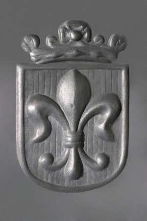 Fleur-de-Lis - pewter - Royal Coat of Arms