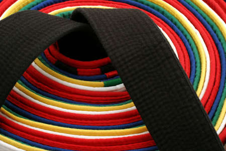 Martial Arts Belts - Round - From White Belt to Black belt