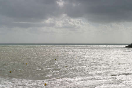 distance marker: Gironde Estuary - The Cordouan lighthouse in the distance is the oldest lighthouse in France.