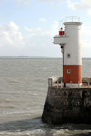 Small Lighthouse - Port of Royan on the Atlantic Coast, France. Standard-Bild